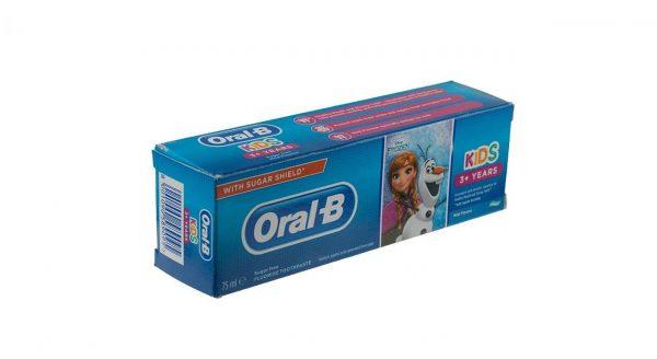 خمیر دندان کودک اورال بی سری Junior +3 Years مدل Frozen حجم 75 میلی لیتر