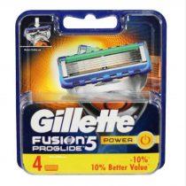 تیغ یدک ژیلت مدل Fusion 5 ProGlide Power بسته 4 عددی
